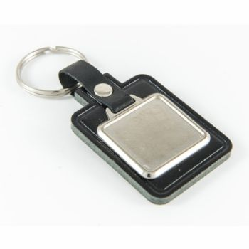Keyfob Blank Rectangle 26x24mm and clear dome